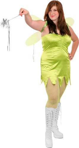 Plus Size Sexy Tinkerbell Costume (Size: 12-14)