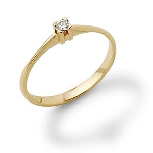 Miore M0599YP - Anillo de mujer de oro amarillo (18k) con 1 diamante (talla: 15.5)