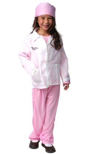 Girls Pink Medical Doctor Pretend Dressup Halloween Costume Size 6/8