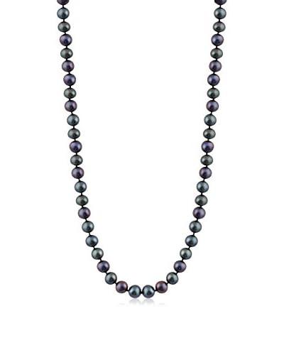 Splendid 6-7mm Black Freshwater Pearl Necklace