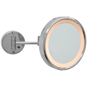 Spiegelleuchte Kosmetikspiegel beleuchtet Metall chrom Schalter 3-stufig