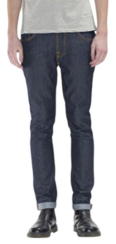 nudie-jeans-thin-finn-jeans-mixte-bleu-dry-tight-broken-w30-l30