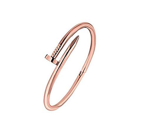 CELENIDE® cinturino Chiodo rigido oro rosato Bangles Bijoux Luxe, Fashion, di tendenza, da donna/ragazza