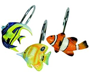 tropical fish shower curtain hooks other