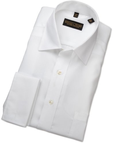 Trump mens donald trump french cuff dress shirt white 17 for Mens white french cuff shirt