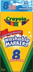 Bulk Buy: Crayola Fine Line Classic Colors Washable Markers 8/Pkg Classic Colors 58-7809 (3-Pack) - 1
