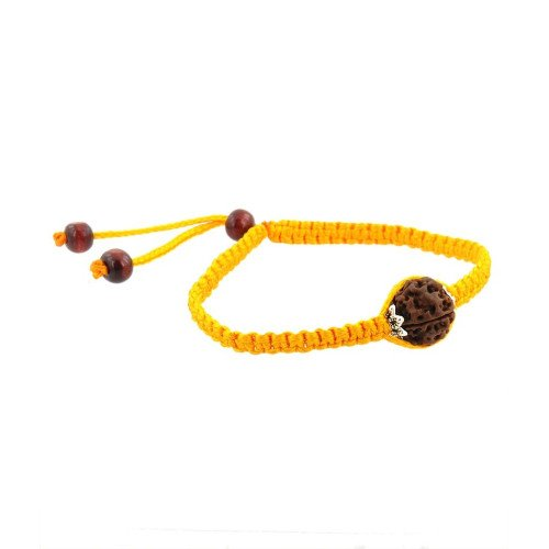Barishh Holy Five Faceted Rudraksha Adjustable Bracelet For Good Luck