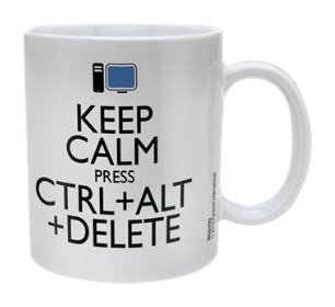 Keep Calm Ctrl Alt Delete Ceramic Mug