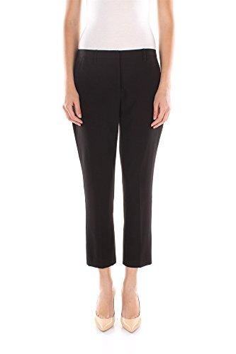Pantaloni Twin-Set Donna Poliestere Nero e Argento P2S5VA00006 Nero XL