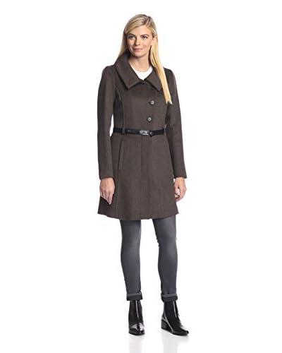 Soia & Kyo Women's Classic Coat with Skinny Belt