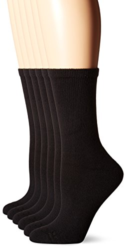 hanes-womens-comfortblend-crew-pack-of-6solid-blackshoe-size-5-9