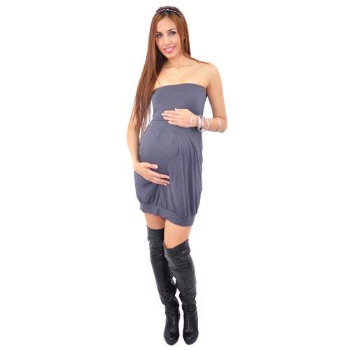 Annee Matthew Tabitha Womens Grey Maternity Tube Dress Size XS-L