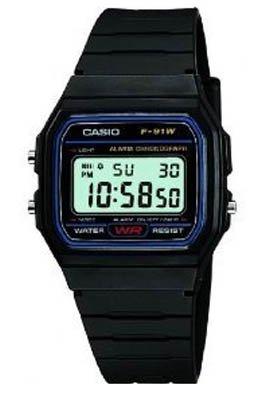 Casio -F-91W-1YER - Montre Homme- Quartz digitale - Chronographe - Bracelet Plastique noir