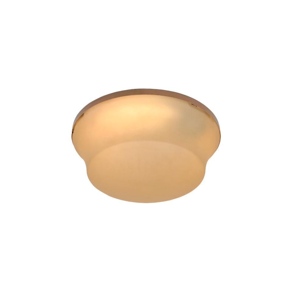 Craftmade OLK124CFL RI 2 Light Outdoor Bowl Fan Light Kit with Amber Glass, Rustic Iron
