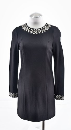 Trina Turk Black Long Sleeve Shift Dress 10