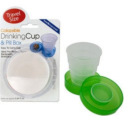 Collapsible Drinking Cup & Pill Box (Sold by 1 pack of 12 items) PROD-ID : 1278059
