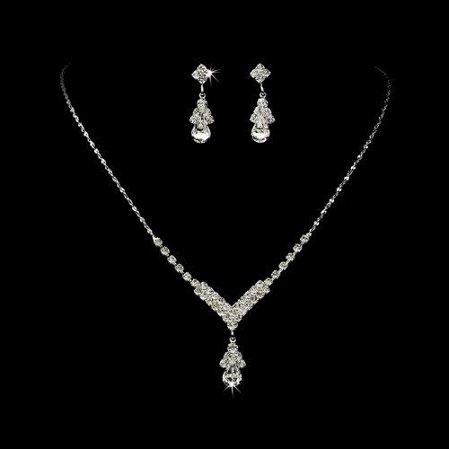 Bridal Wedding Jewelry Set Crystal Rhinestone