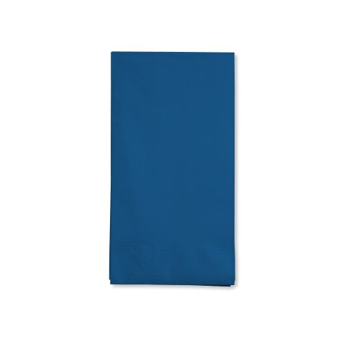 Creative Converting Touch of Color 16 Count 3-Ply Paper Guest Napkin, Navy