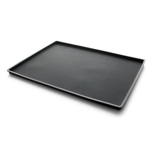 Lekue 12 by 16-Inch Non-Spill Baking Sheet, Black