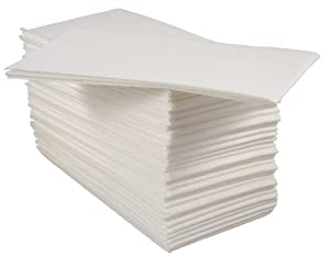 Pack Of 50 Luxury White Paper Airlaid Disposable Paper