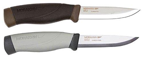 Bundle - 2 Items: Morakniv Companion Heavy Duty Carbon Steel Knife And Morakniv Craftline Highq Robust Carbon Steel Knife