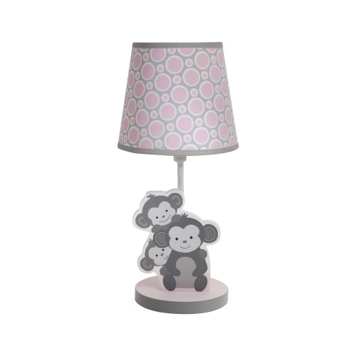 Bedtime Originals Lamp with Shade and Bulb, Pinkie