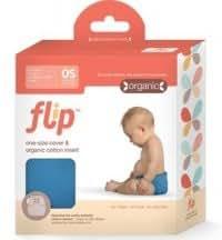 Flip Diaper with organic prefold insert