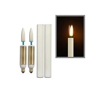 1.5W LED Retrofit Flickering Candelabra Bulb (Pack of 2) [Set of 6]