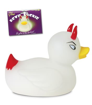 Glow Devil Duckie - Glowing Rubber Duck