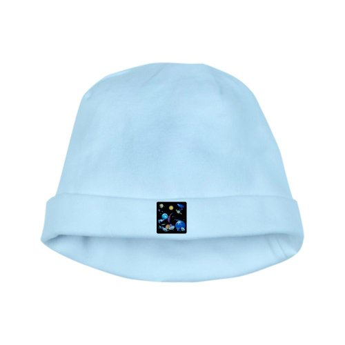 Artsmith, Inc. Baby Hat Solar System And Asteroids - Sky Blue