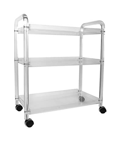Uptown Down Lucite Service Cart, Clear