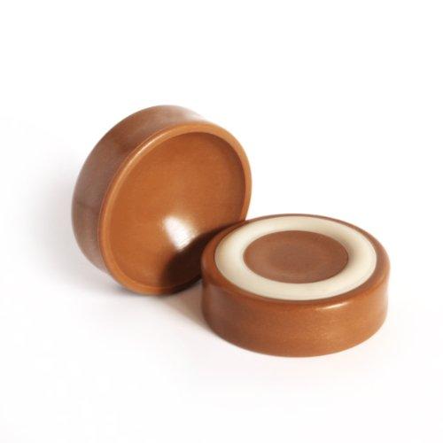 Wheel Locking Floor Protector Gripper Cup Color: Caramel CB600