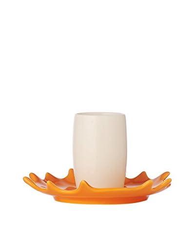 L'Abitare Taza De Cafécon Plato Splash Blanco/Naranja