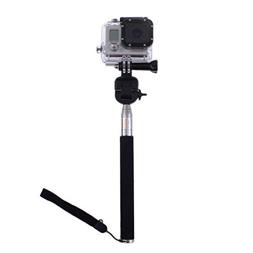 Neewer® Extendable Self-Portrait Telescopic Handheld Pole Camera Monopod Set With Tripod Mount Adapter And Screw For Gopro Hero 1 2 3 3+ Camera Amd Digital Camera