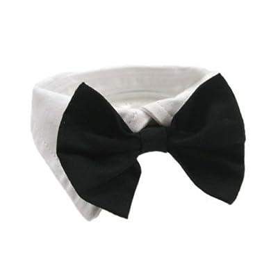 """Formal Black Dog Bow Tie (XXL: Neck 23-26"""")"""