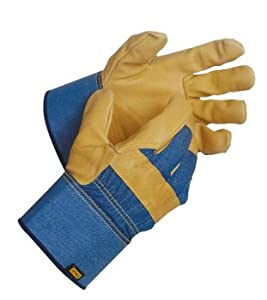 Stanley leather palm work gloves large for Gardening gloves amazon