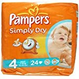 Pampers Simply Dry Nappies Size 4 Maxi