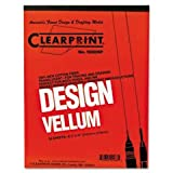 Clearprint� 10001410 - DESIGN VELLUM PAPER, 16LB, WHITE, 8-1/2 X 11, 50 SHEETS/PAD ~ Clearprint