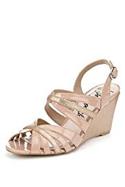 Open Toe Strappy Wedge Sandals