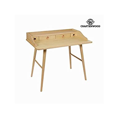 Bureau wood 4 tiroirs - Collection Modern by Craftenwood
