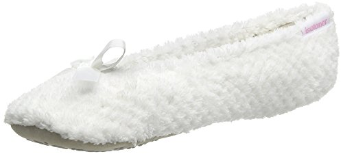 isotoner-popcorn-terry-ballet-chaussons-femme-blanc-blanc-s
