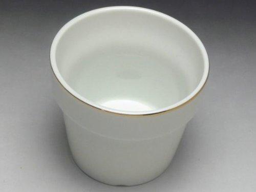 【B級品】白磁植木鉢