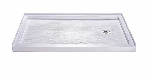 Best Review Of DreamLine SlimLine 34 in. x 60 in. Single Threshold Shower Base, Right Hand Drain, DL...