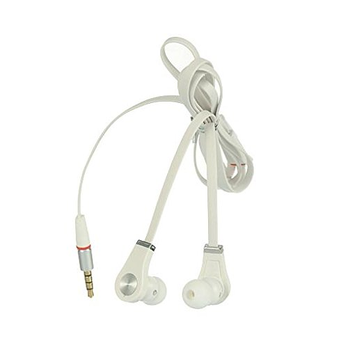 Htc Droid Dna Tangle Free Flat Wire White Stereo Headphones Built In Hands Free Microphone