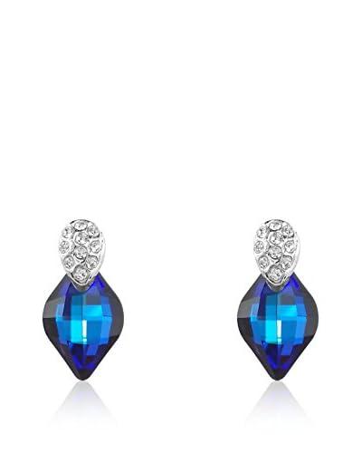 Absolute Crystals Orecchino Lemon Blu Elettrico