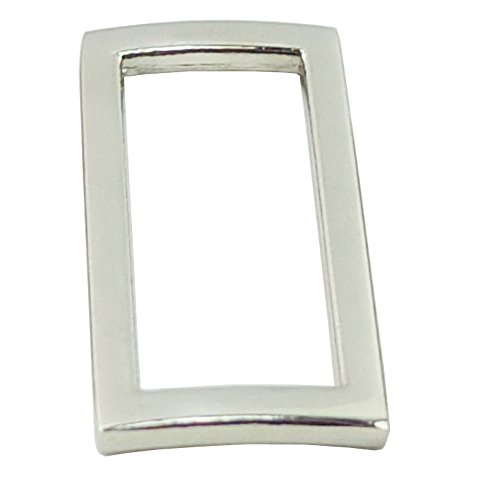 "Bluemoona 20 Pcs - 1.25"" 32mm Metal Rectangle Rings Webbing Buckles for Straps, Bags, Purses, Belting, Ribbon (Nickel)"