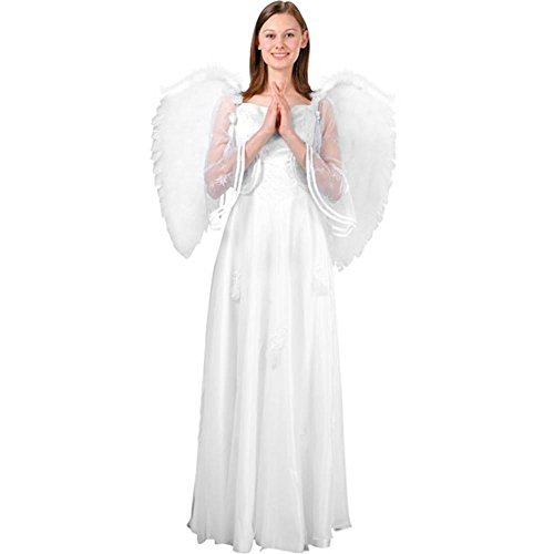 Adult's Large White Feather Angel Costume Wings