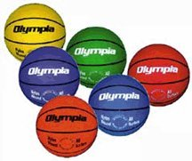 Intermediate Women Sized Colored Basketball (Set of 6, One of Each Color) by Olympia Sports