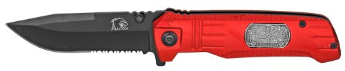 "4.5"" Fire Fighter Folding Pocket Knife - Red"