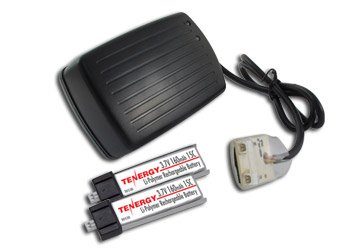 Combo: Tenergy Wall charger for 3.7V MCX batteries + 2 pcs Tenergy 3.7V 160mAh 15C LIPO Batteries for Micro Helicopters